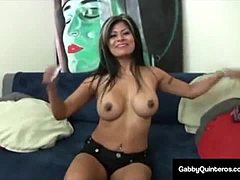 Mexi mamma Gabby Quinteros Welcomes A sexy charge In Her Mouth!